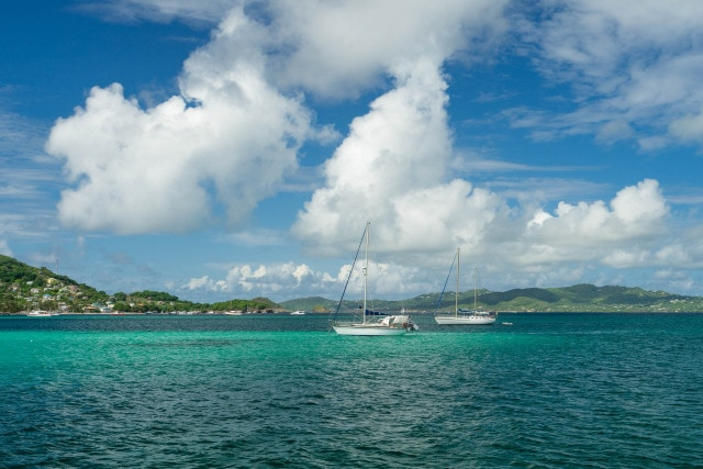 Sailing in the Grenadines by Patrick Bennett