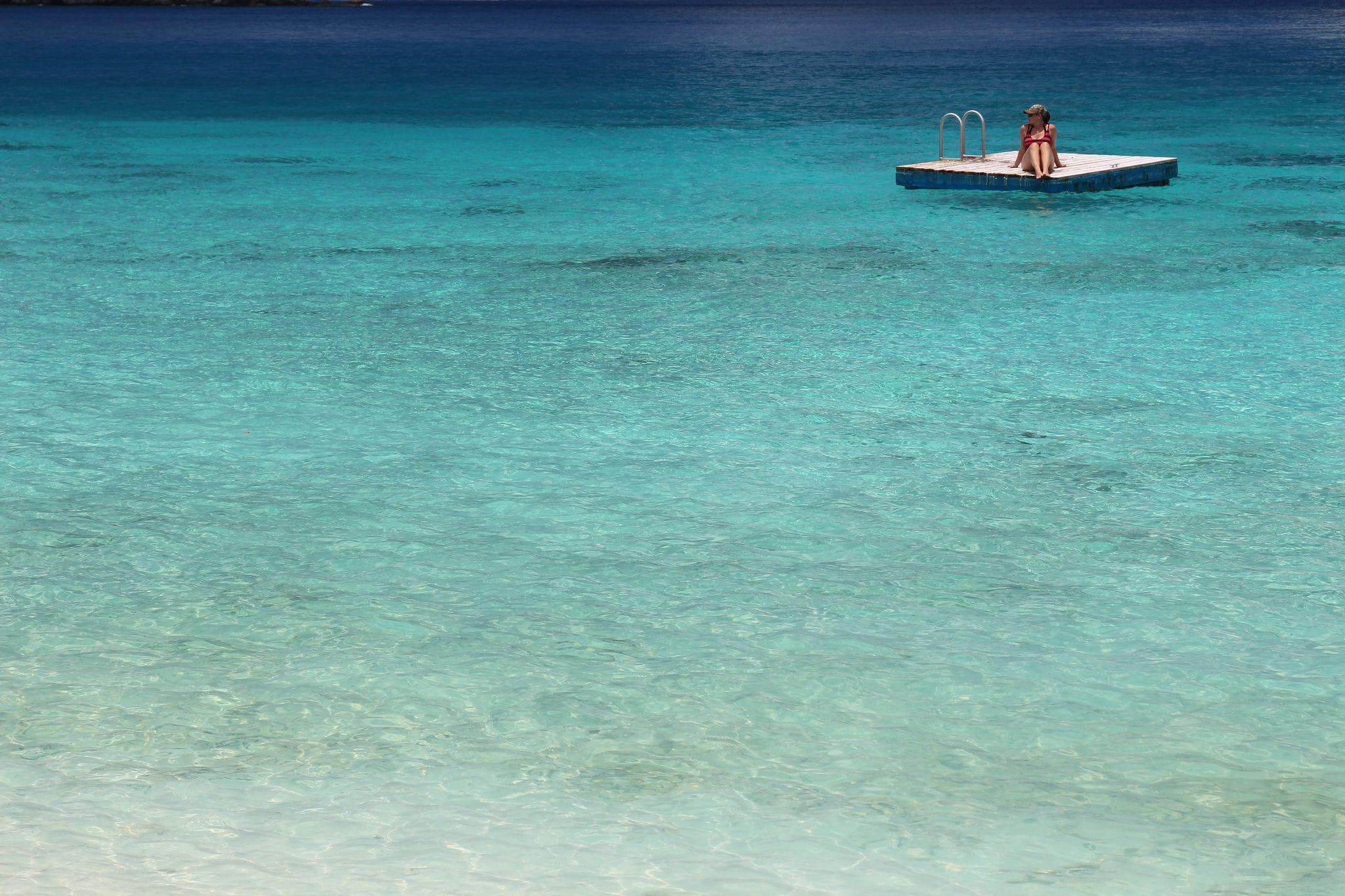 Sunbathing Atop the Sea in Tortola