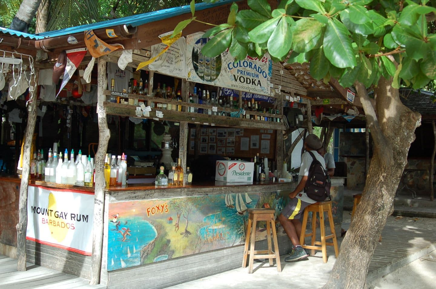 Old Year S Night At Foxy S Bar In The Bvi S British