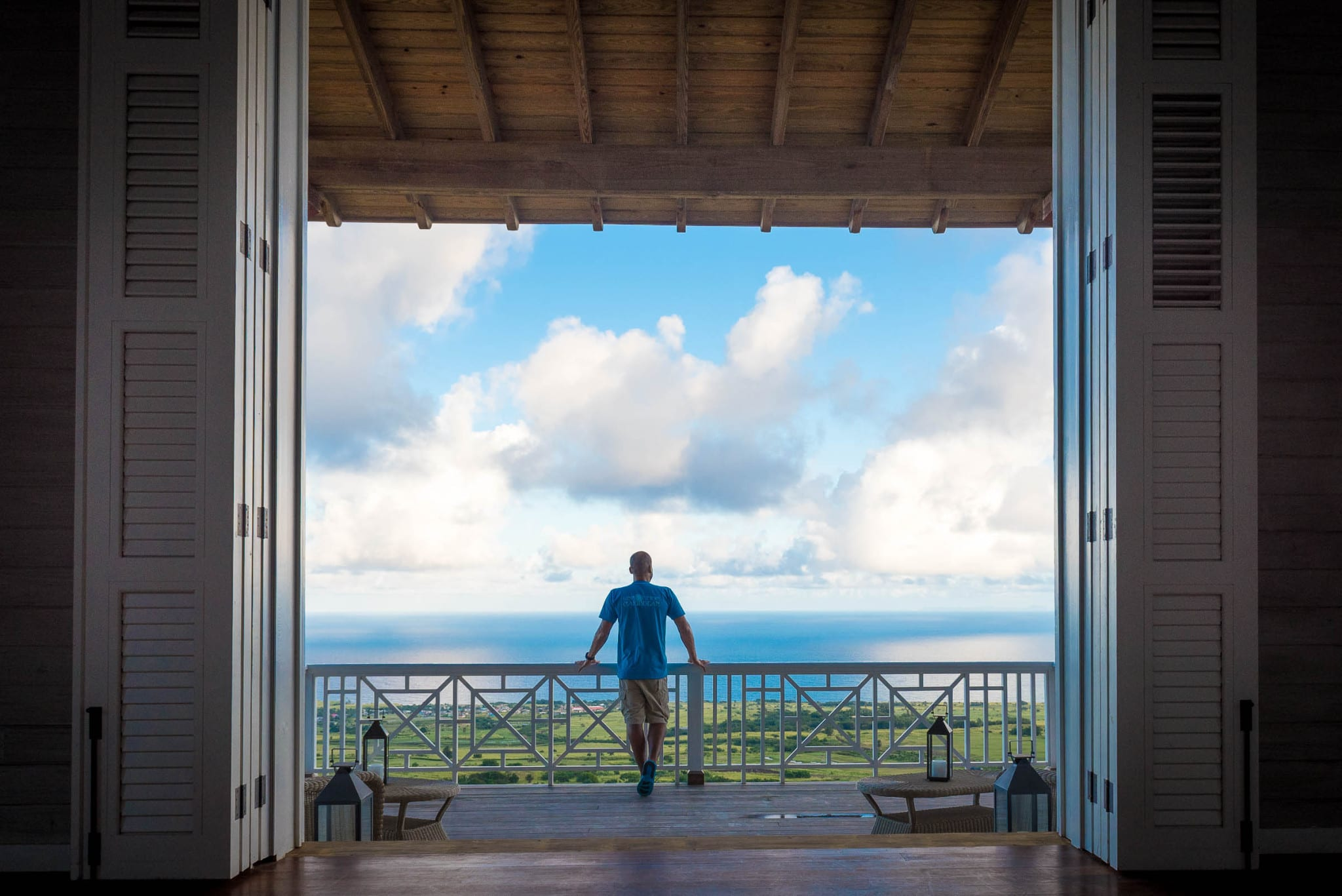 The Lookout at Belle Mont Farm on Kittitian Hill by Patrick Bennett