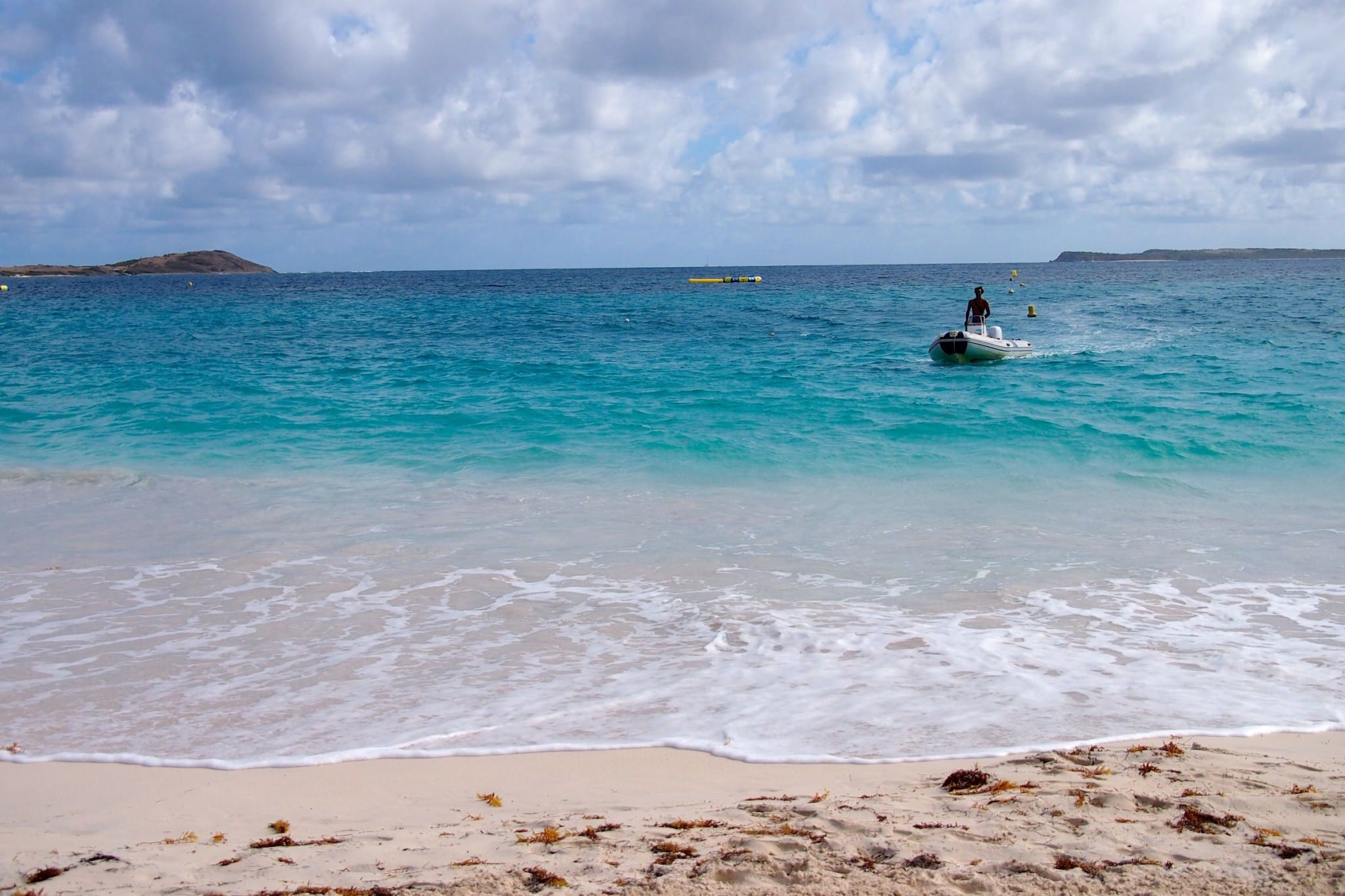 Boating Ashore at Orient Bay, St. Martin: Wish You Were Here