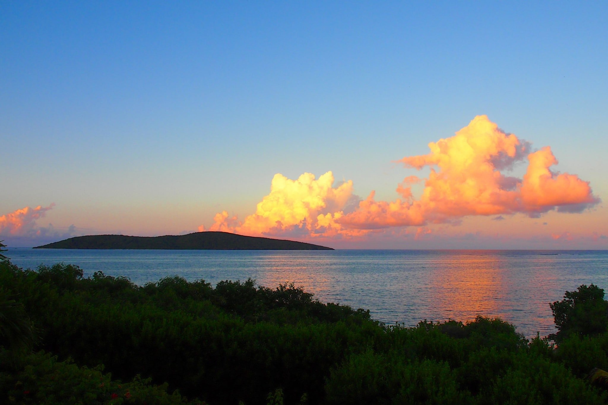 Sunset Clouds Over Buck Island from Solitude House, St. Croix