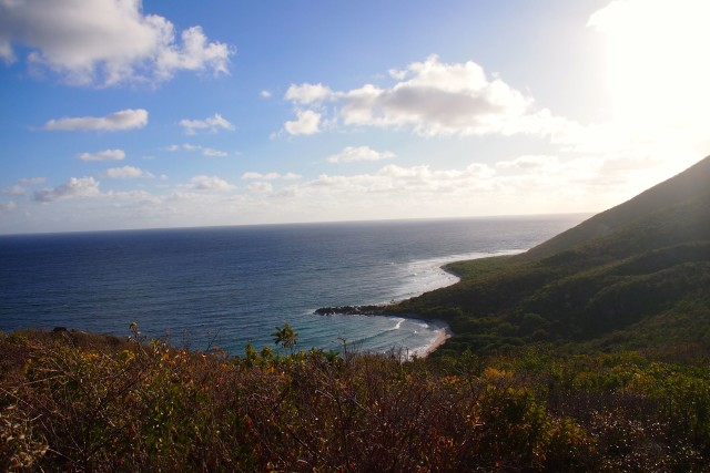 Looking down on Baie de Petite Cayes, St. Martin | SBPR
