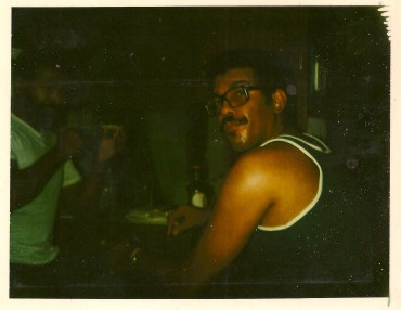 Dad in the dark back in the day