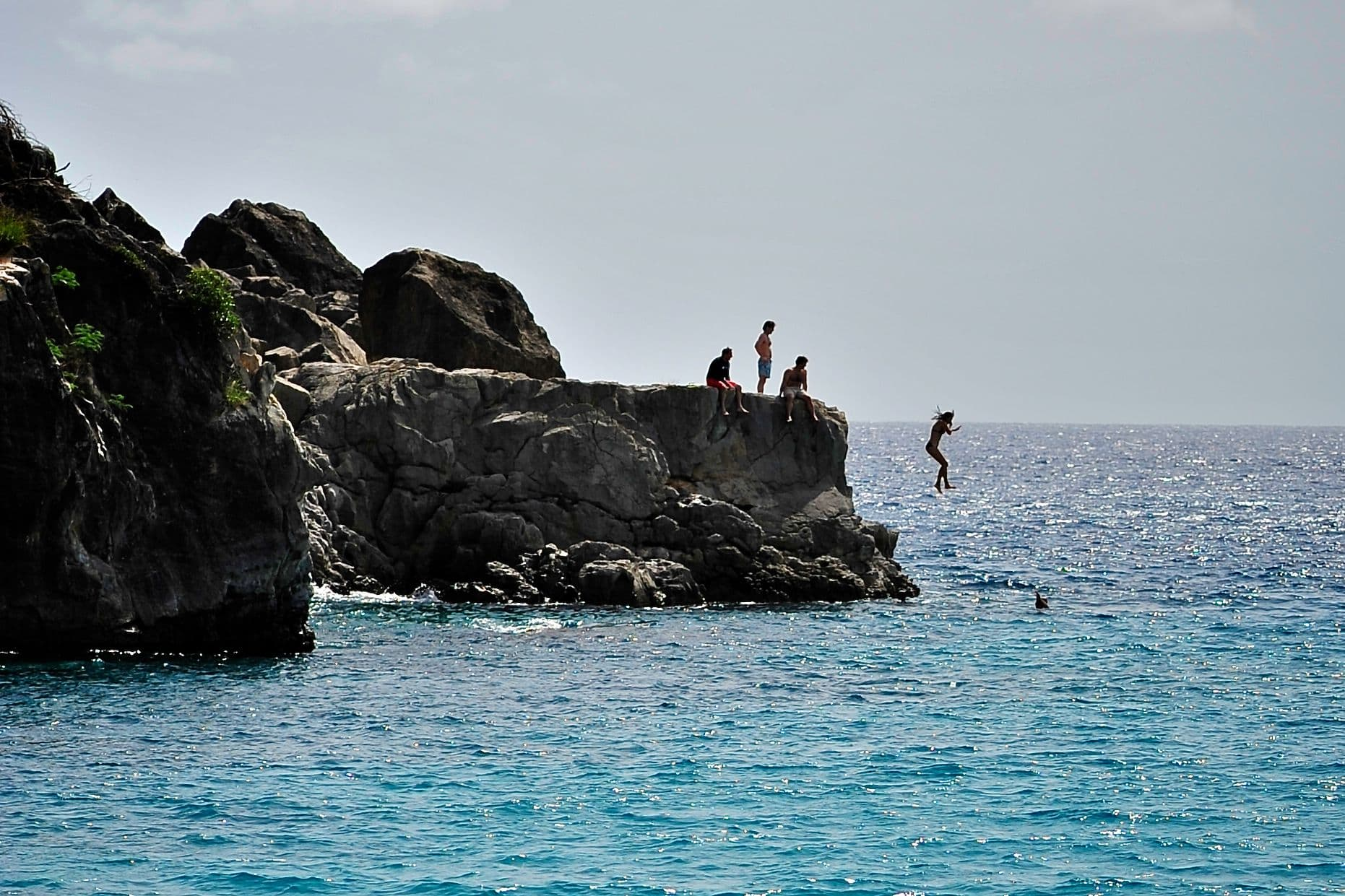 Cliff Diving in St. Barts: Photo of the Day