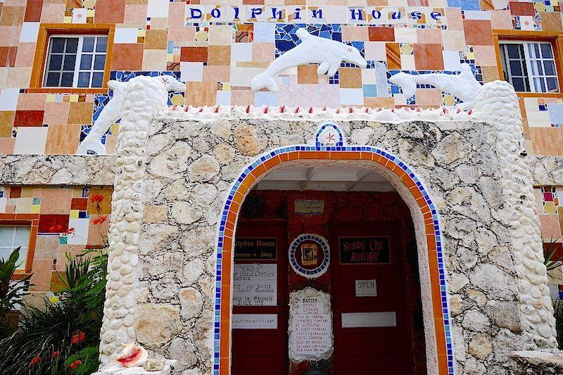The Beautifully Bahamian Kitsch of Dolphin House, North Bimini