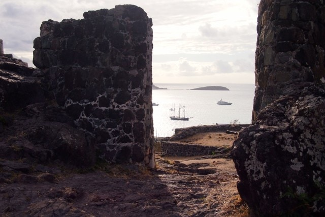 Peeking out at the sea and approaching ships from Fort Louis, St. Martin | SBPR