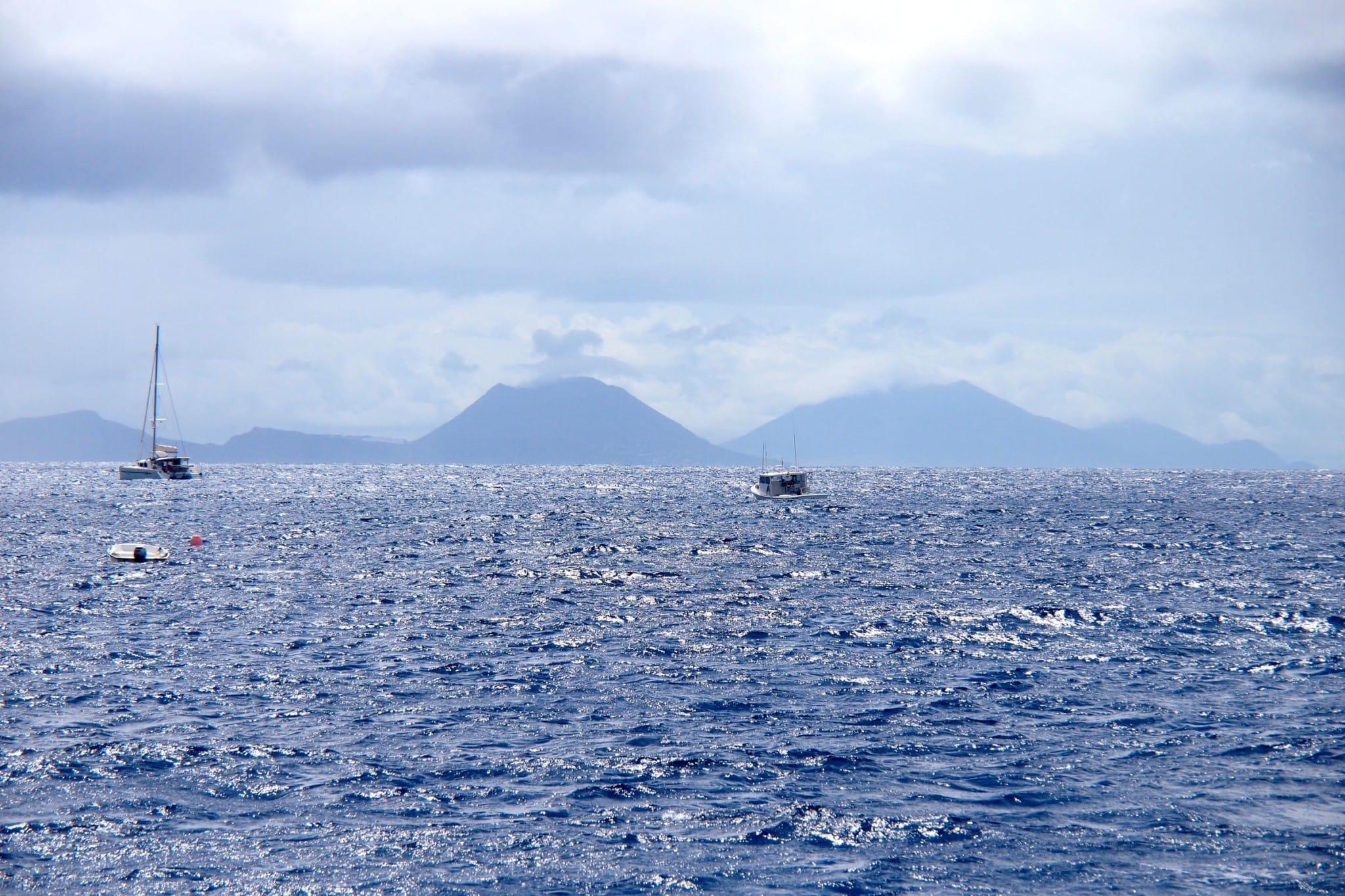 Staring at Statia From 30 Km at Sea