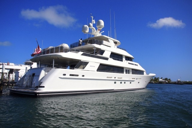 Winning Drive in port at Abaco Beach Resort and Boat Harbour Marina in Marsh Harbour, The Bahamas | SBPR