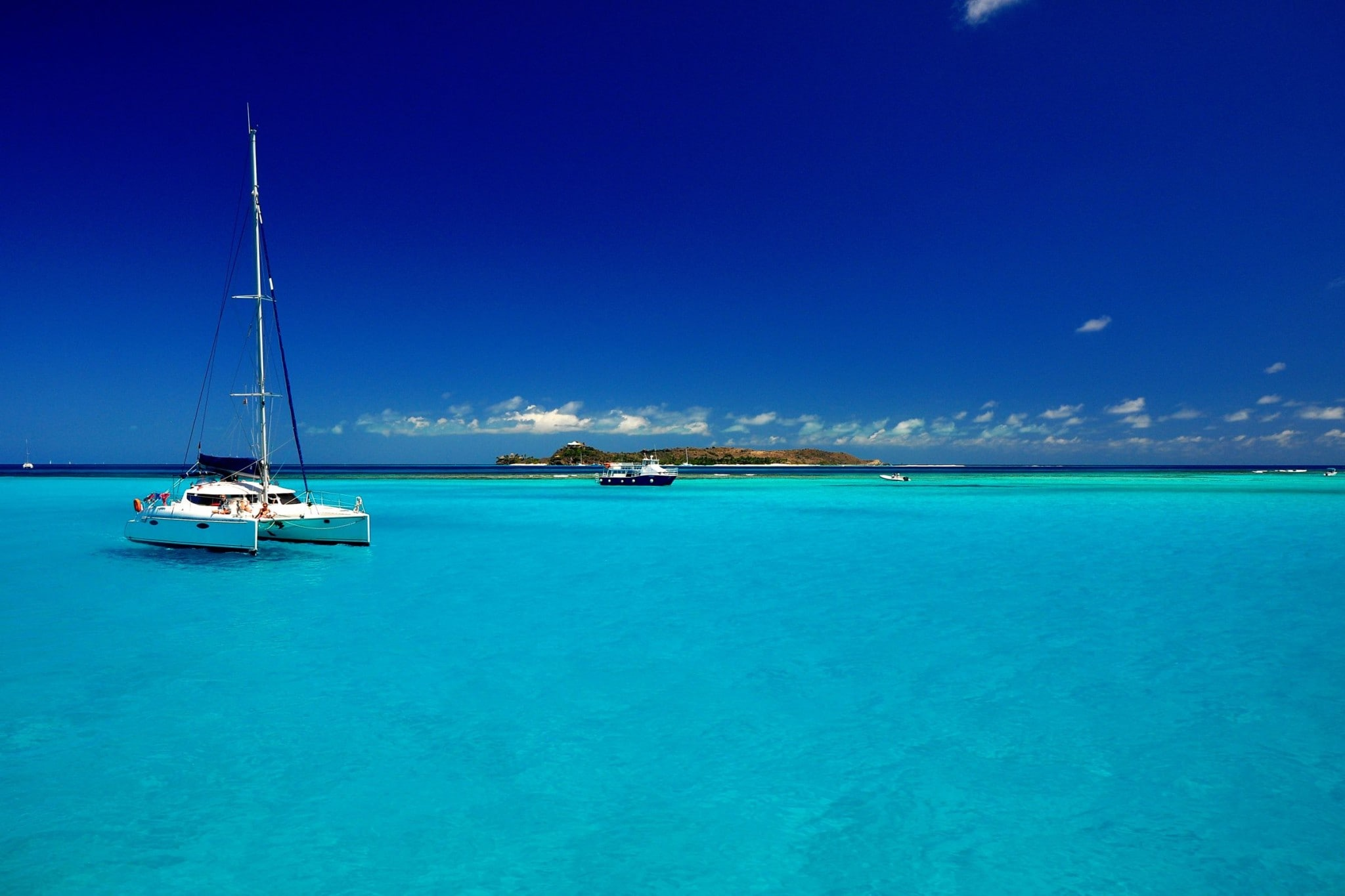 Anchored Off Necker Island in the BVI's: Wish You Were Here