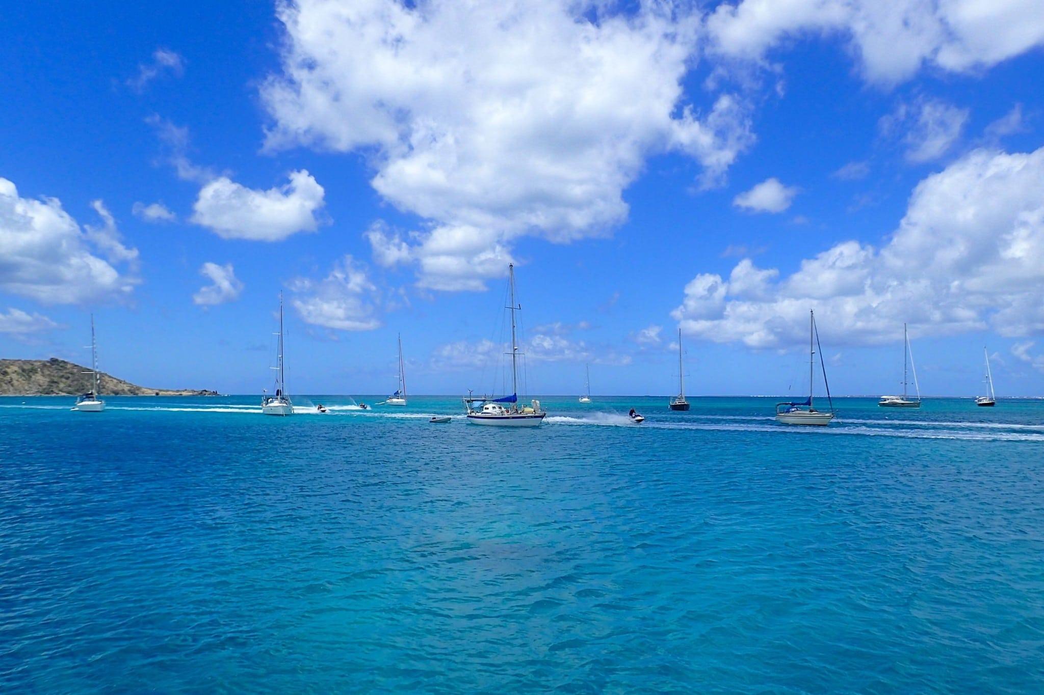 Jet Skis vs Sailboats Off Grand Case, St. Martin
