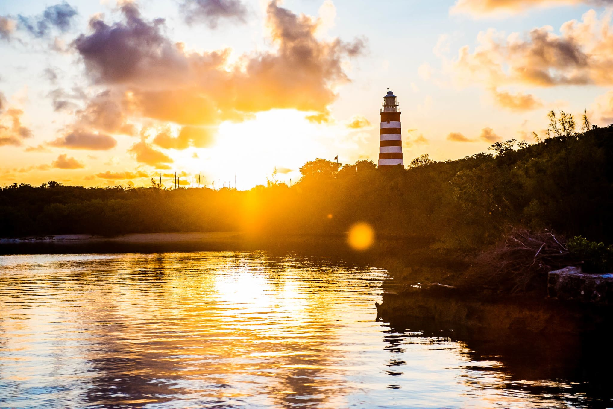 Sunrise Over The Historic Elbow Cay Lighthouse