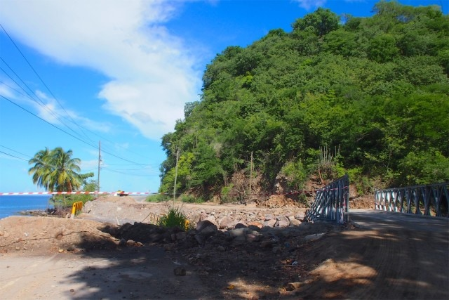 Temporary Bridge on the road to Colihaut, Dominica | SBPR