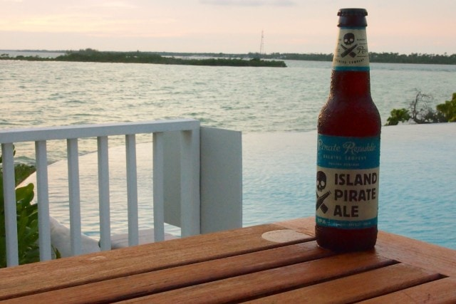 Island Pirate Ale at Sunset at Deep Water Cay, The Bahamas | SBPR