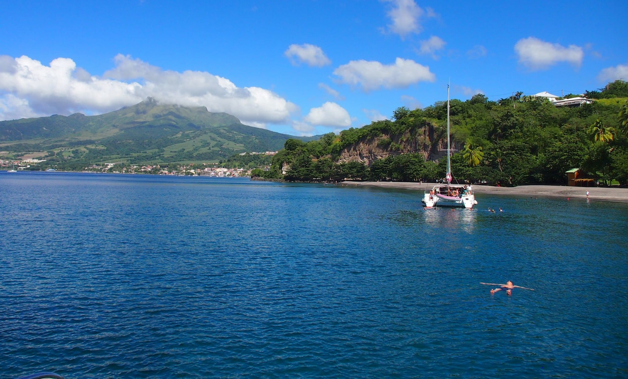 Floating Around In The Shadow Of Mt. Pelée, Martinique