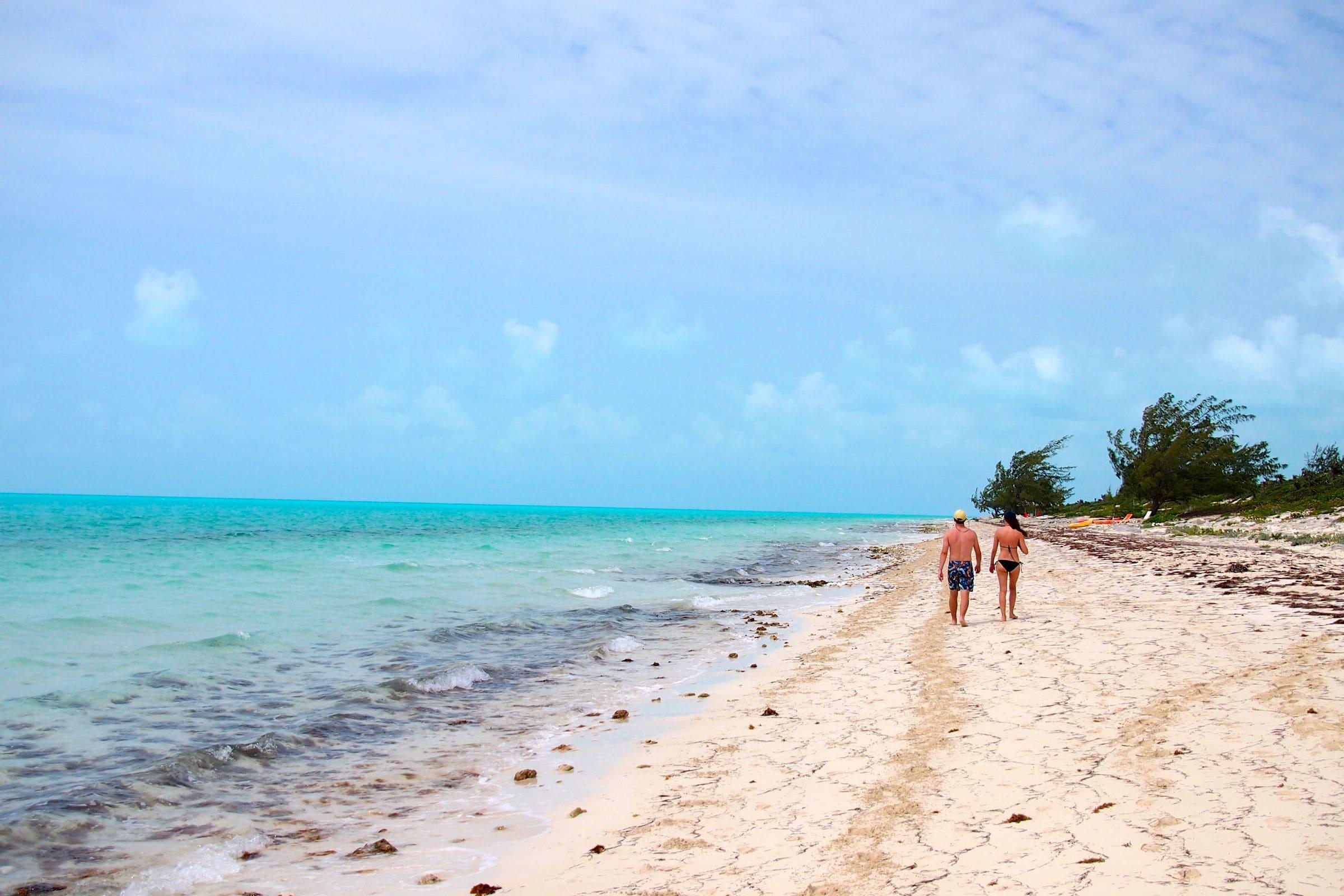 Beachcombing Along Long Bay Turks And Caicos