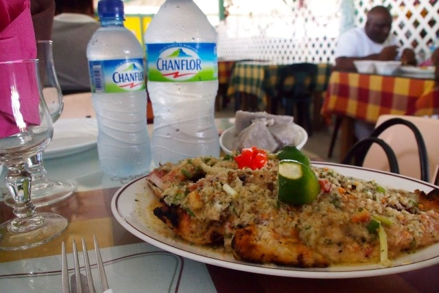 Most savory fish plate in Martinique | SBPR