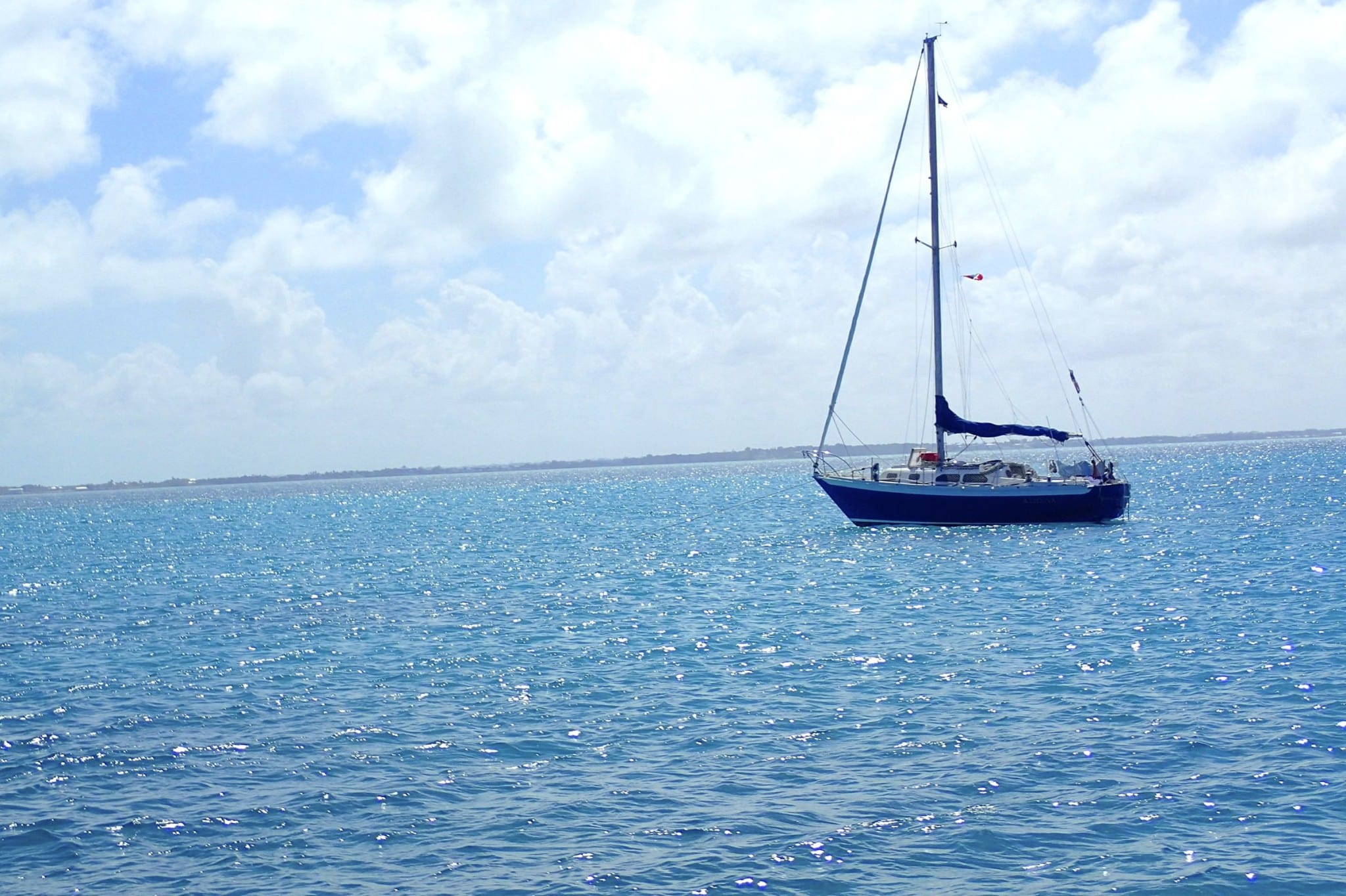 Anchored in the Calm Sea of Abaco, The Bahamas