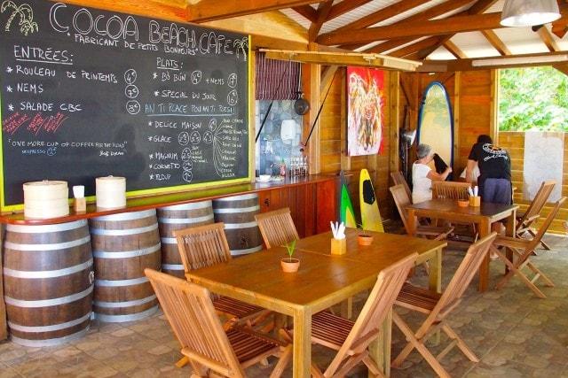 Inside Cocoa Beach Cafe, Martinique   SBPR