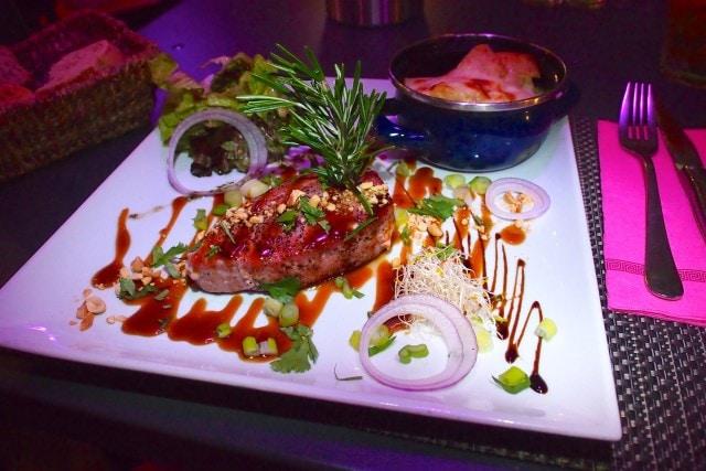 Asian style Tuna Steak at Le Piment, St. Martin