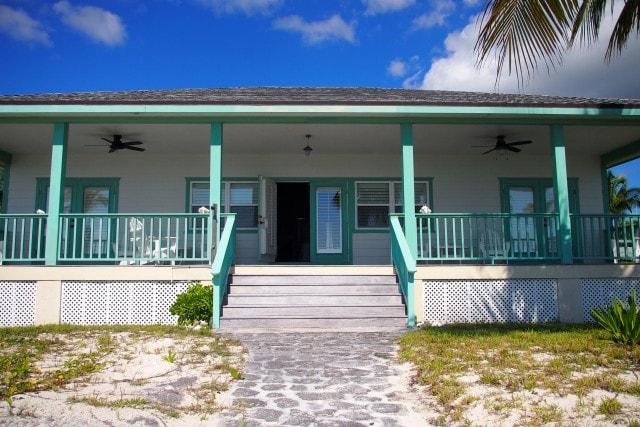 Drake House Back Porch, Deep Water Cay | SBPR
