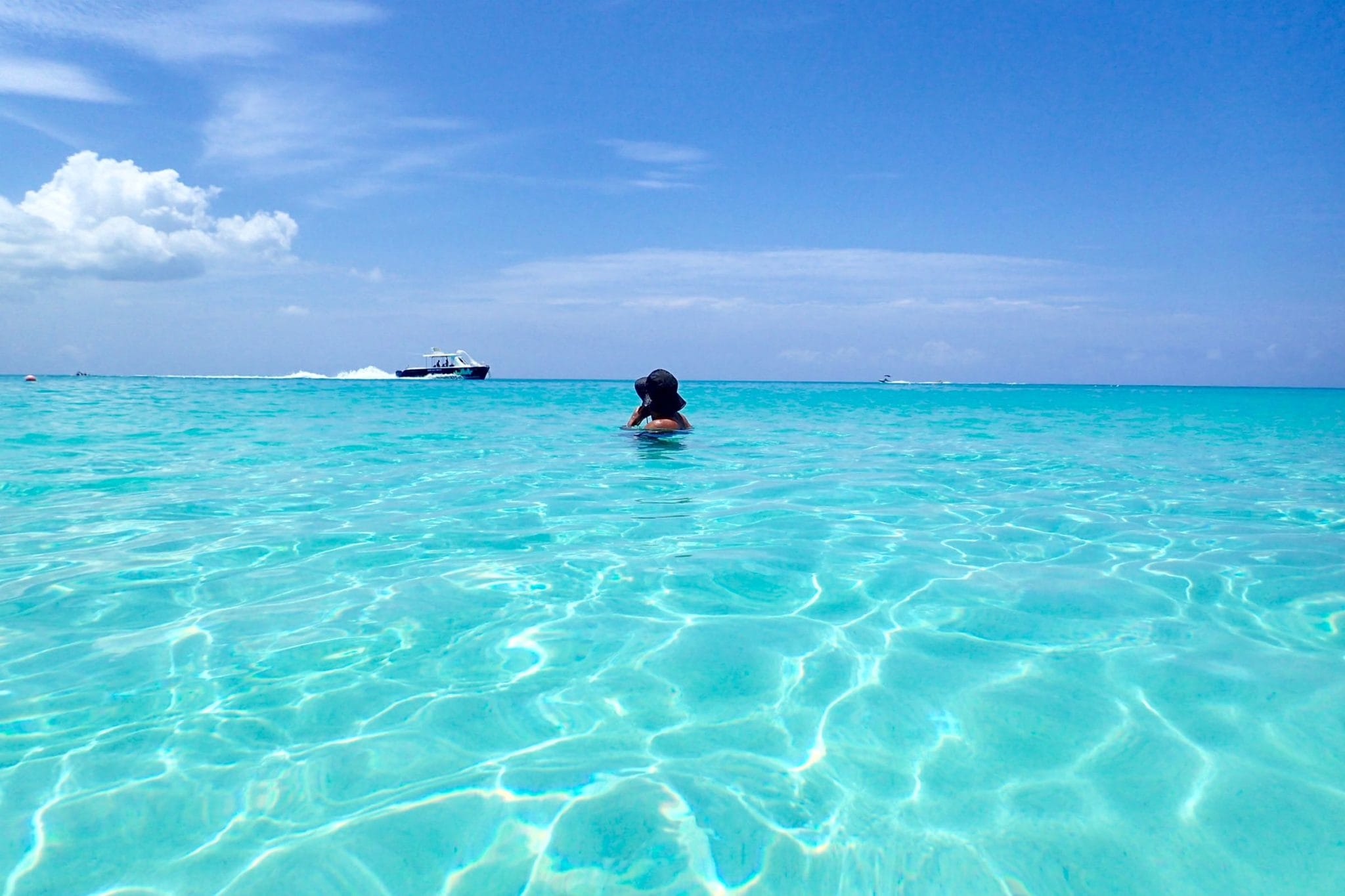 bobbing around grace bay, turks and caicos | providenciales, turks