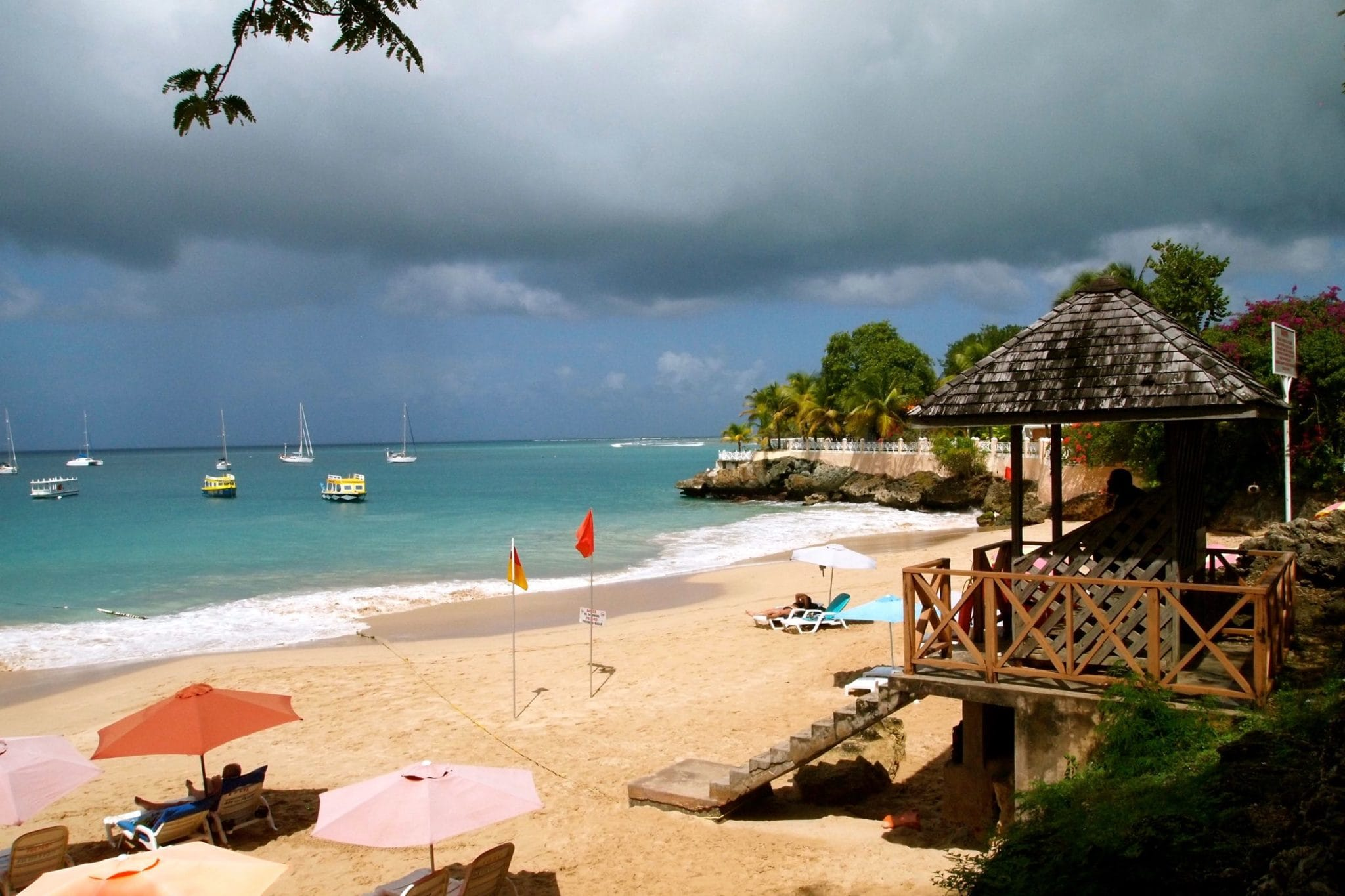 Casting Off For Buccoo Reef, Tobago