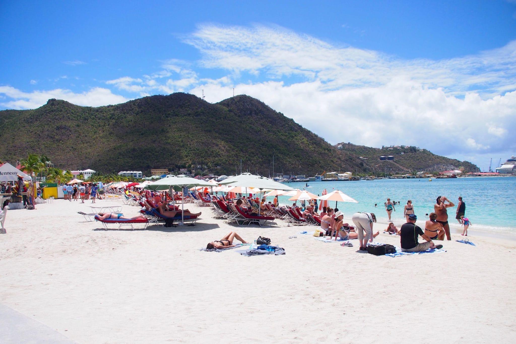 On the beach in Philipsburg, St. Maarten | SBPR