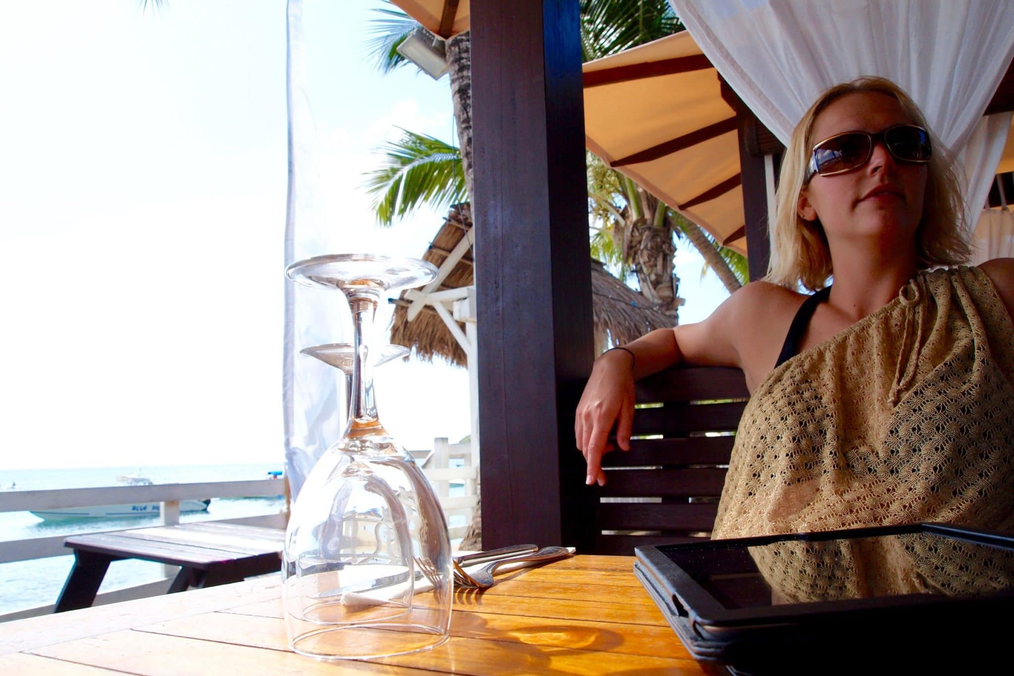 Très Stylé Lunchtime Lounging the Day Away at Ti' Sable, Martinique