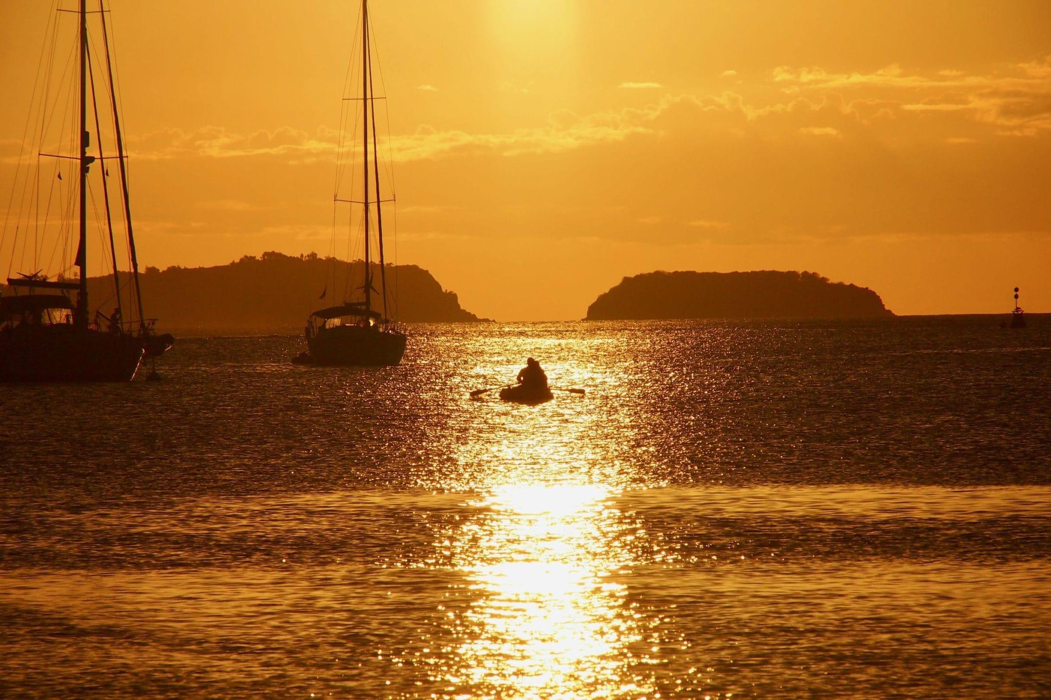 Sunset Cruising in Terre-de-Haut, Guadeloupe