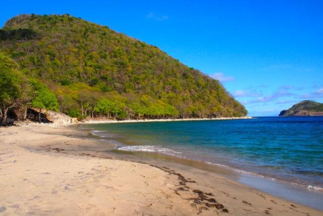 Sands of Anse Crawen on Terre-de-Haut, Guadeloupe