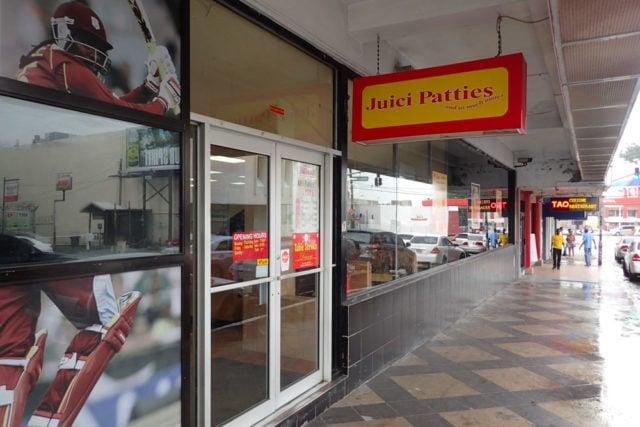 Juici Patties storefront in New Kingston