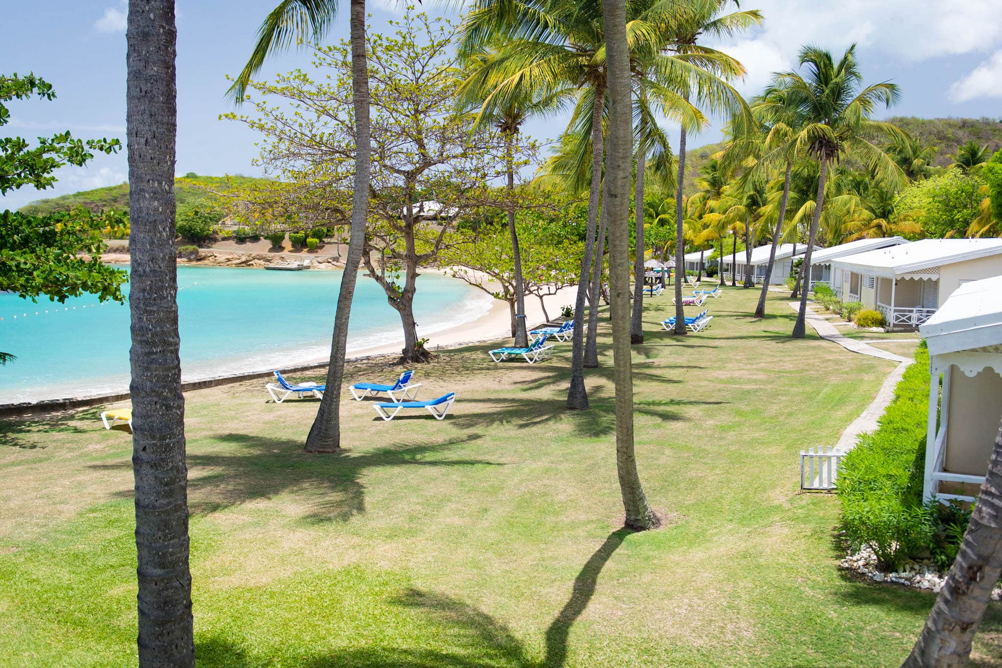 The beautiful white sand of the resorts four secluded beaches is never far away.