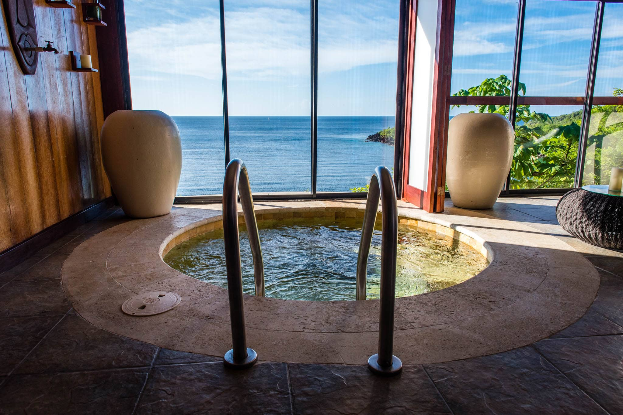 Don't forget to visit the absolutely stunning spa with floor to ceiling windows.