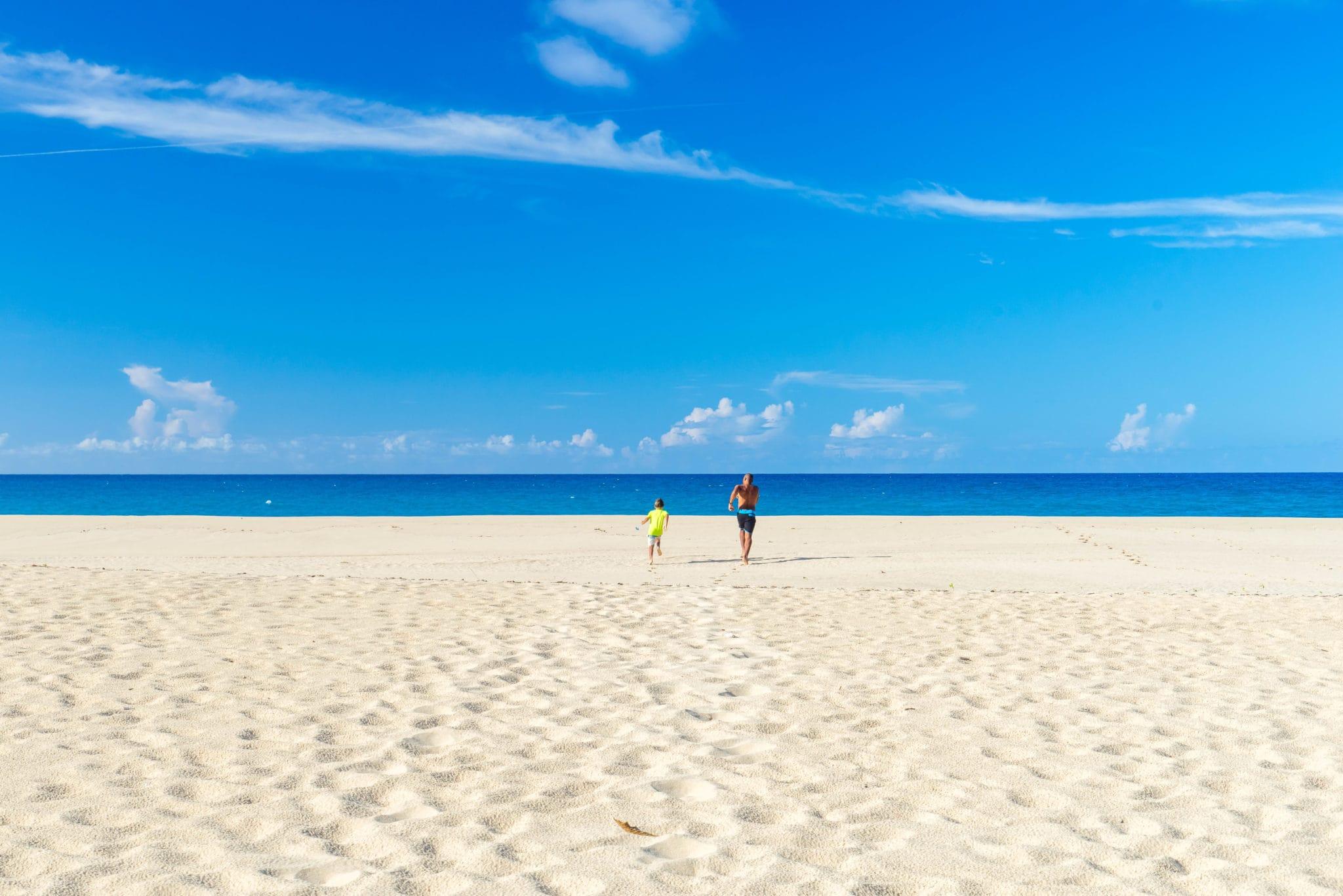 Sprinting to the Sea on Playa Grande