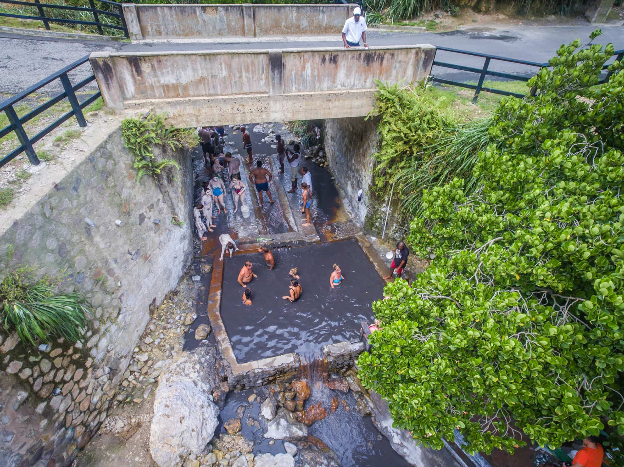 Sulfur Springs National Park in Soufriere
