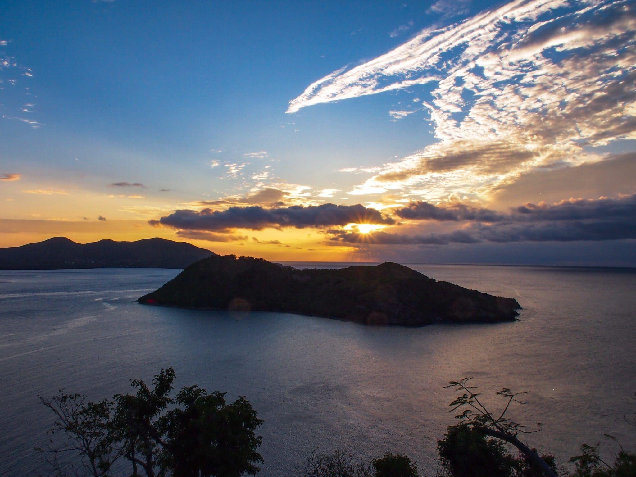 Sunset Over Îlet à Cabrit des Saintes, Guadeloupe