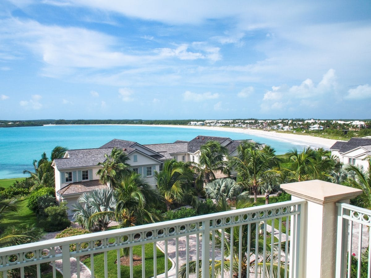 Lonely view of Emerald Bay from my balcony at Grand Isle Resort, Great Exuma   SBPR
