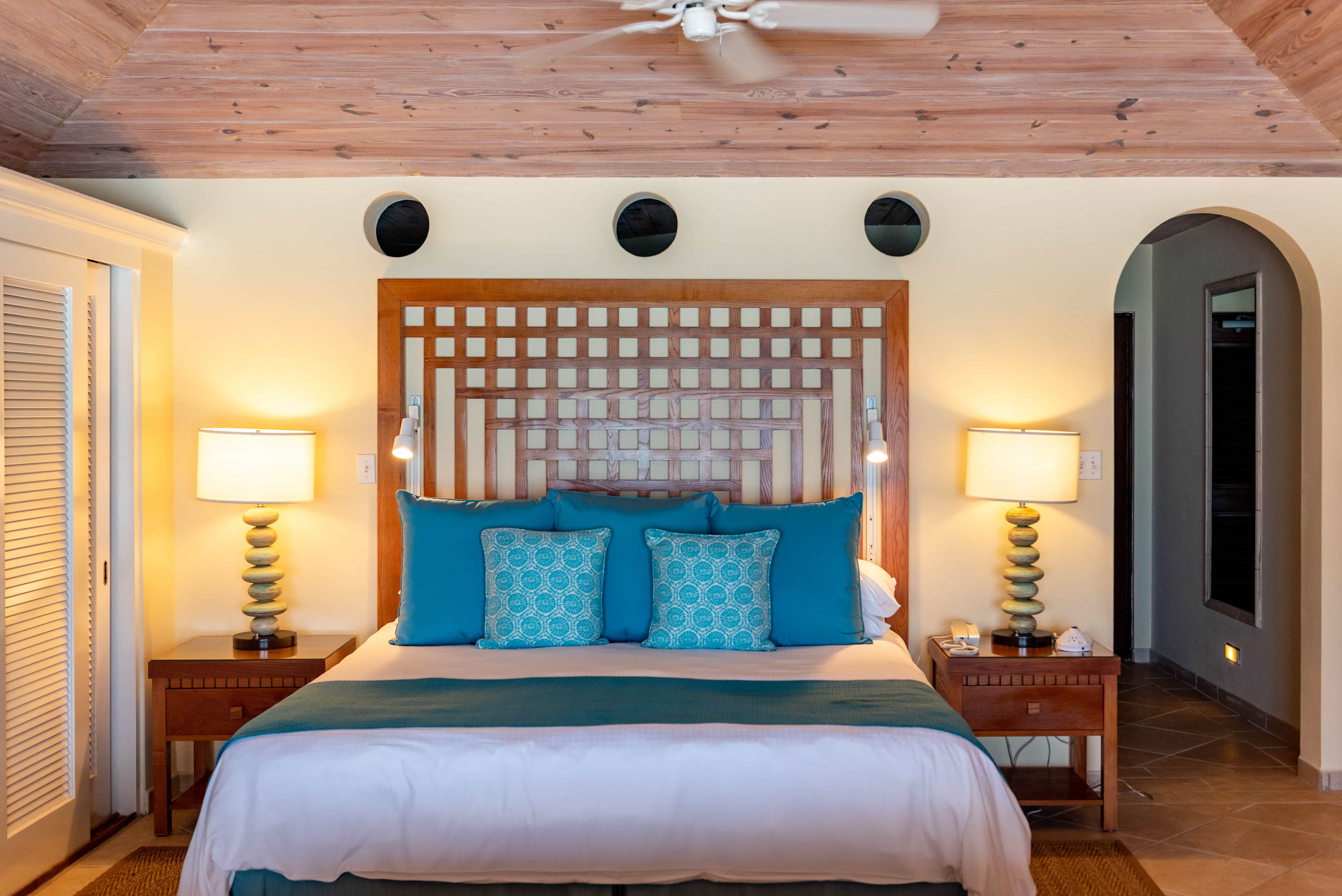 Almost all beautifully appointed rooms open right out onto white sand.