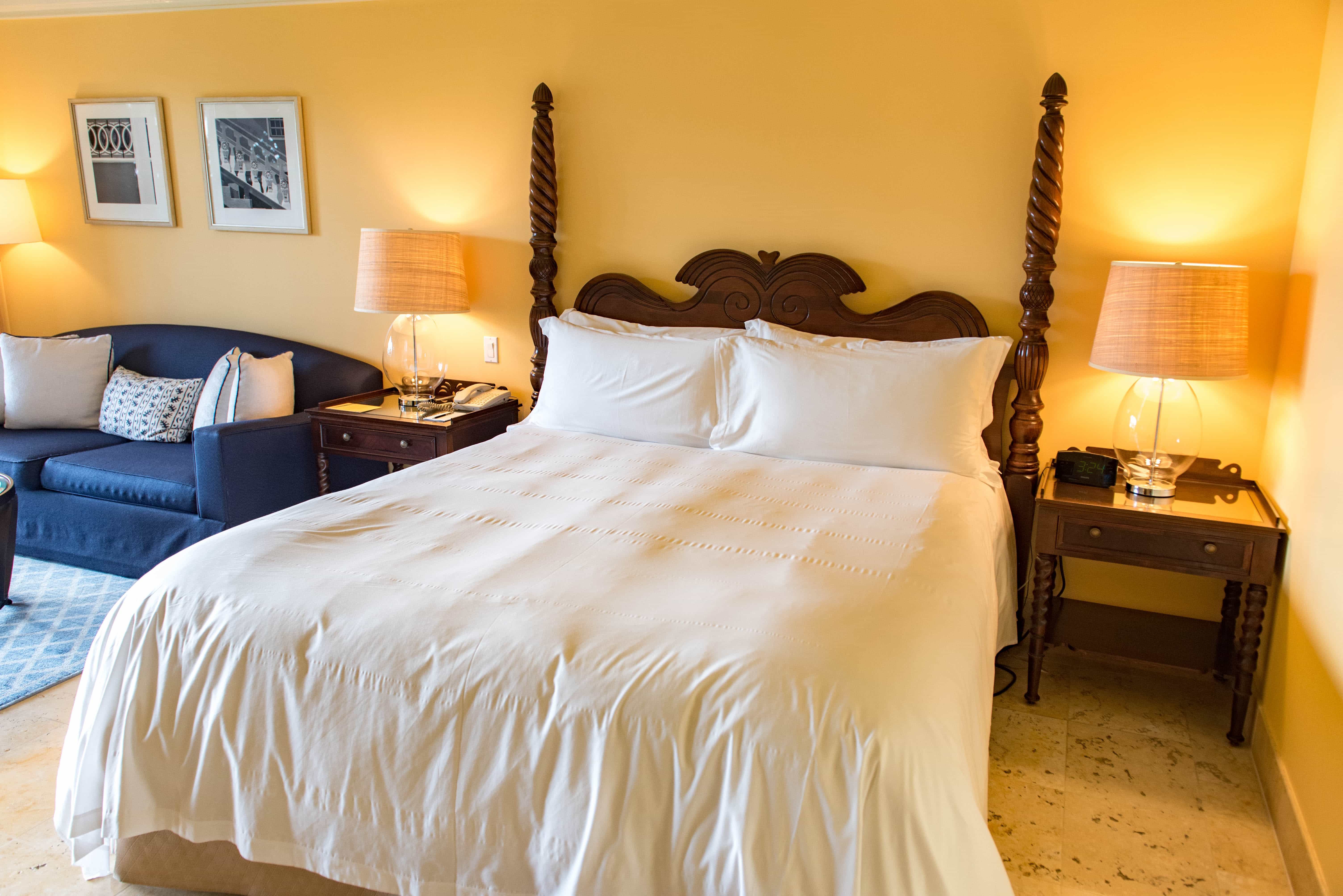 Many of the well appointed rooms with lavish bathrooms open right out towards the beach.