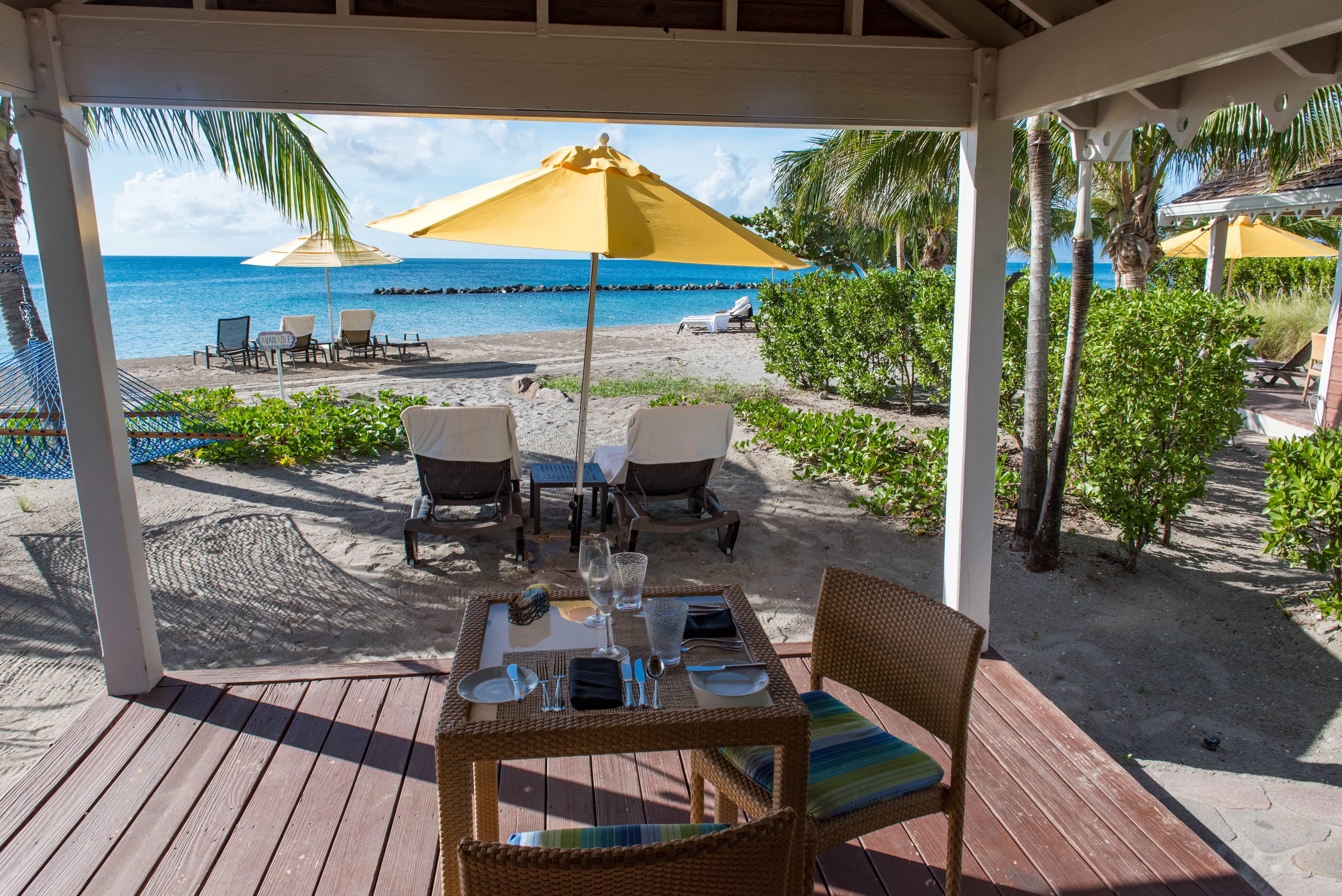 For even more beach, cabanas are available for guests to reserve their own private time on the sand.