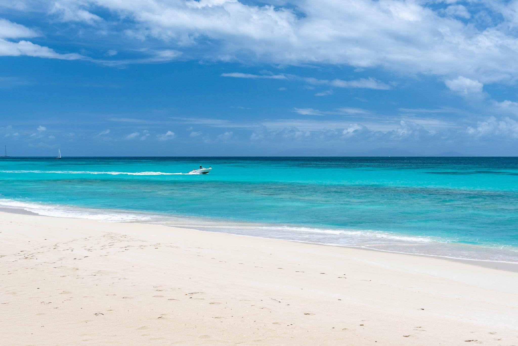 Cruising by Love Beach, Antigua