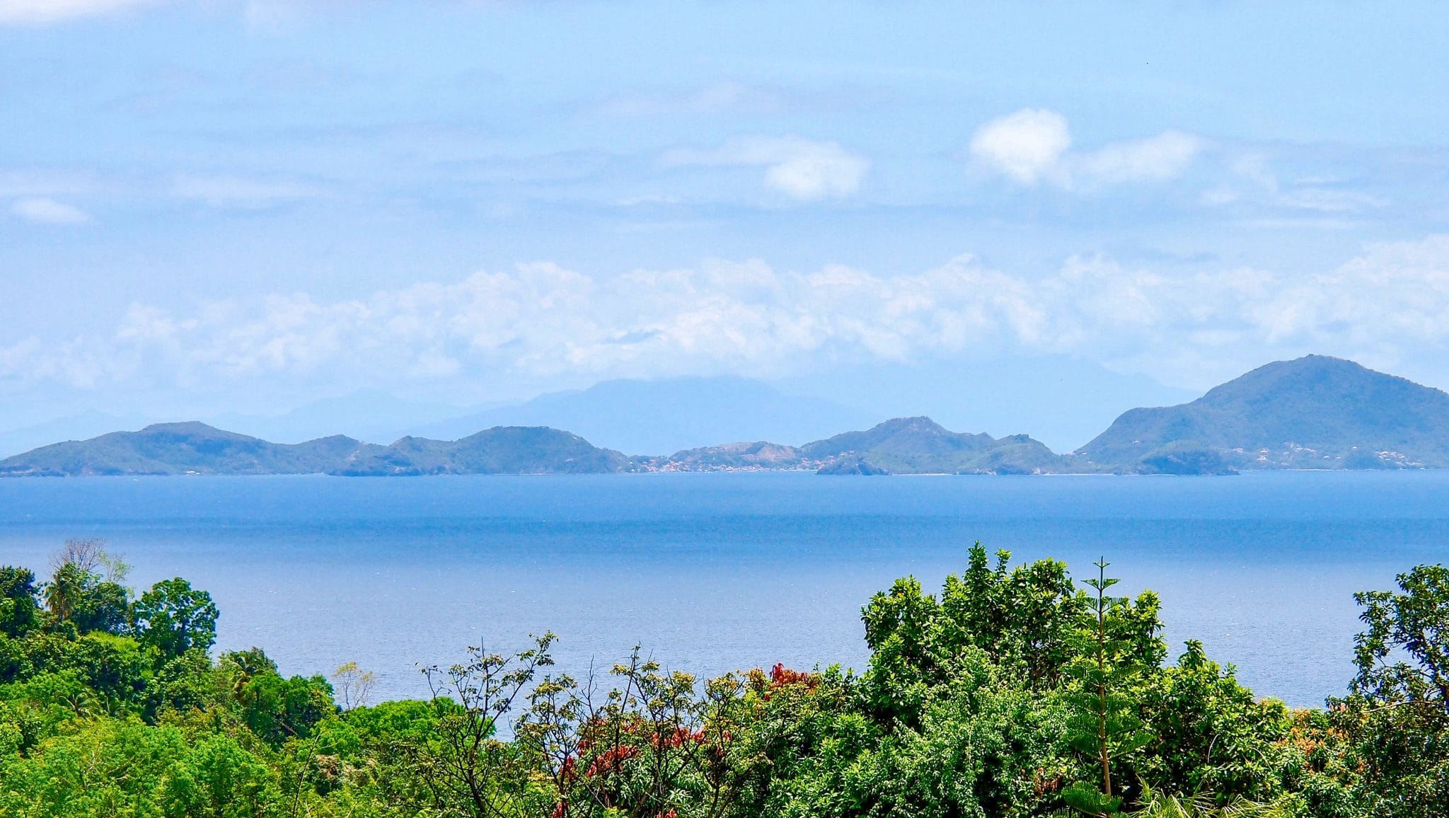 Sweet Sight of Les Saintes from Trois-Rivières, Guadeloupe