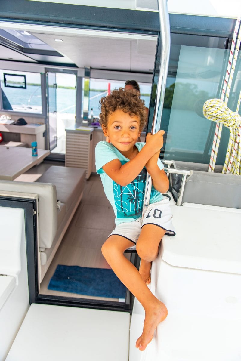 Sailing with kids can be fun