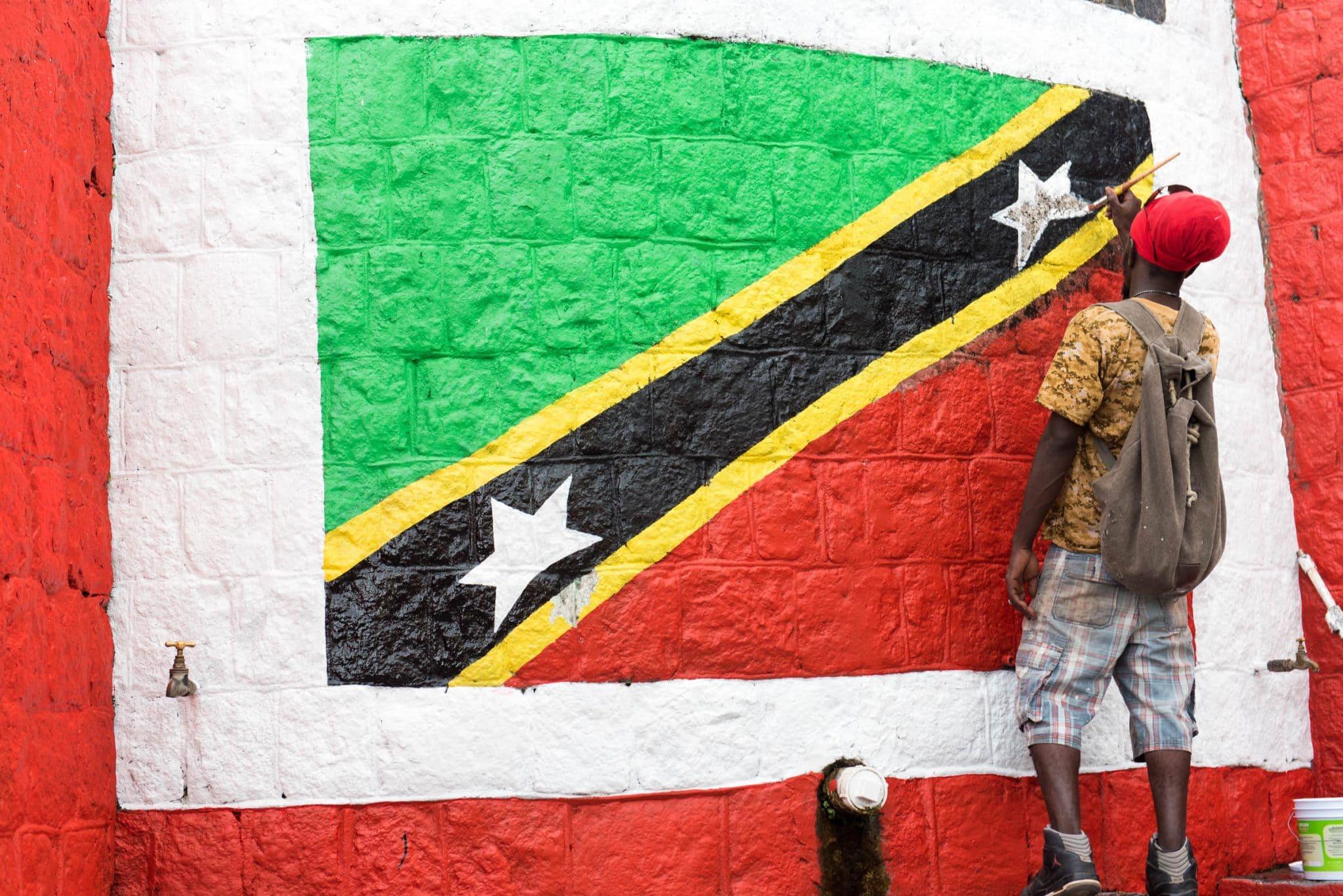 The Proud Flag of St. Kitts & Nevis