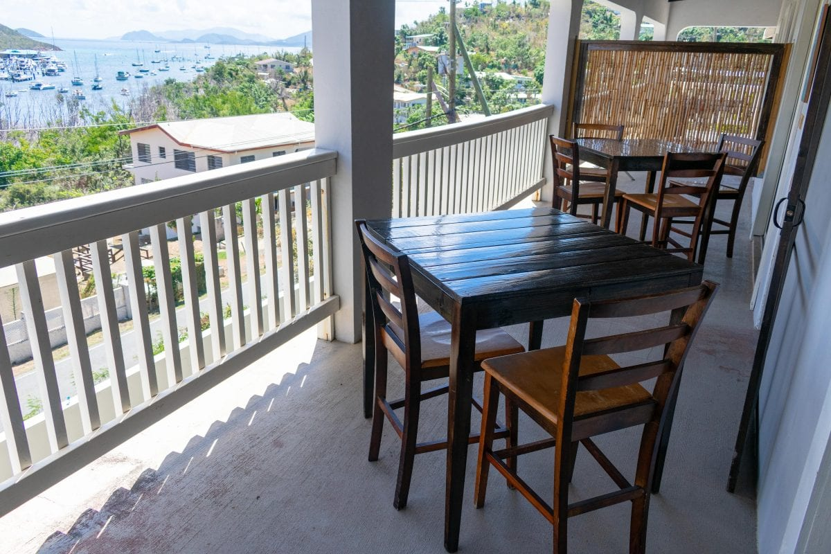 My daily breakfast spot at Two Sandals B&B, St. Thomas | SBPR