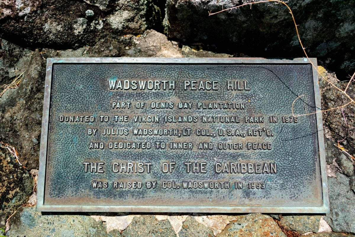Col. Wadsworth Peace Hill Plaque | SBPR