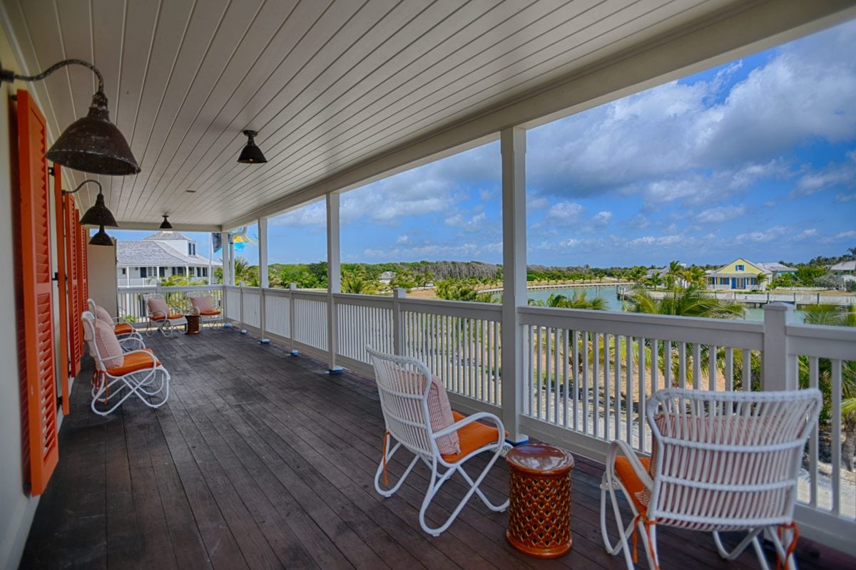 Second Floor Terrace at The Sandpiper Inn, Abaco, The Bahamas