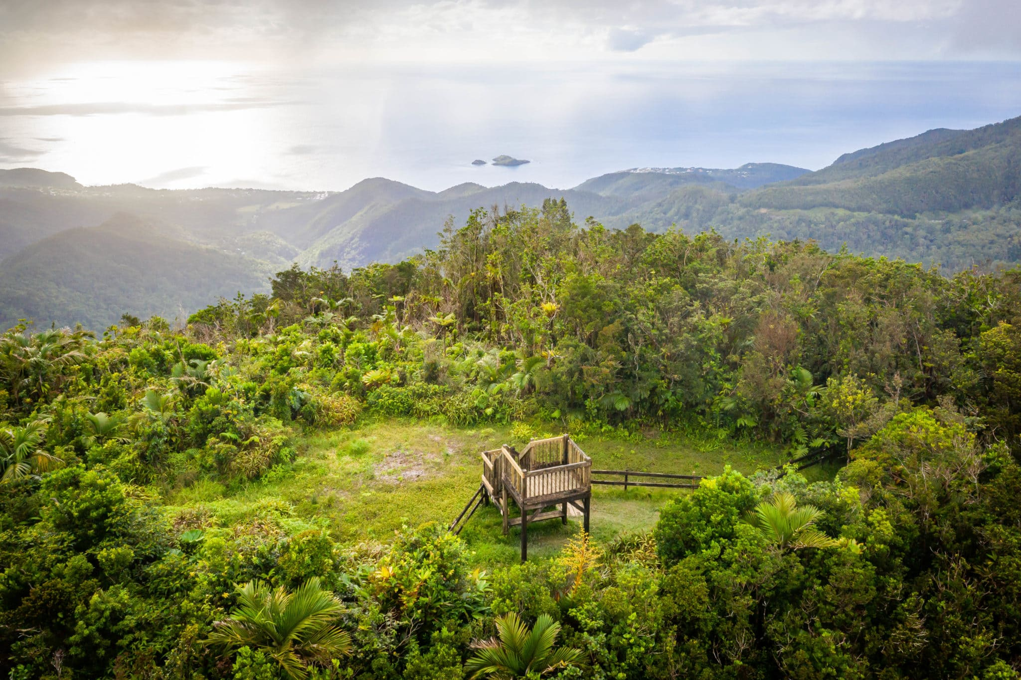 The Mamelles Guadeloupe National Park View
