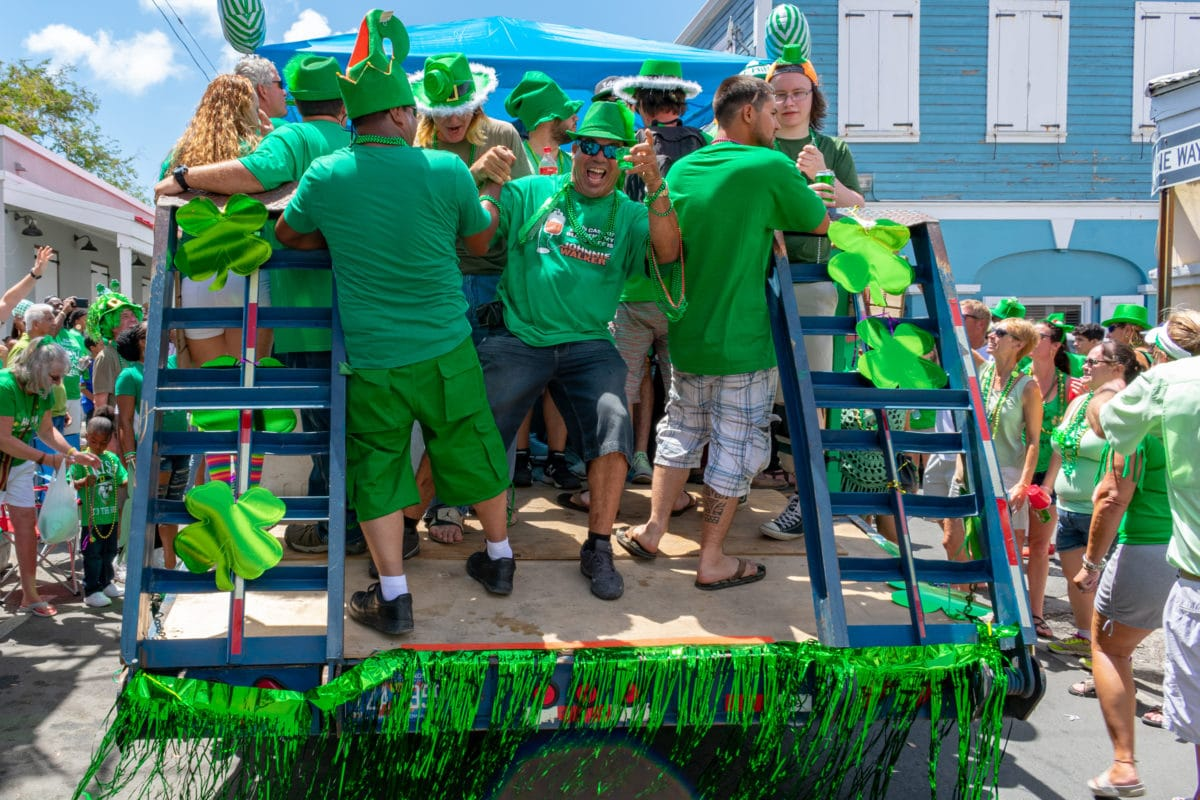 Just before noon on Company Street, 2018 St. Croix St. Patrick's Day Parade | SBPR